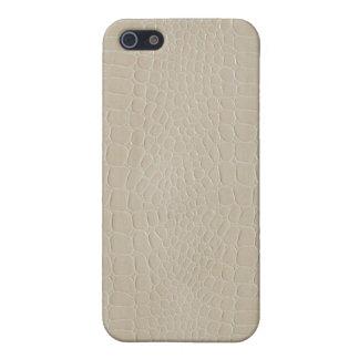 Beige del cocodrilo iPhone 5 funda