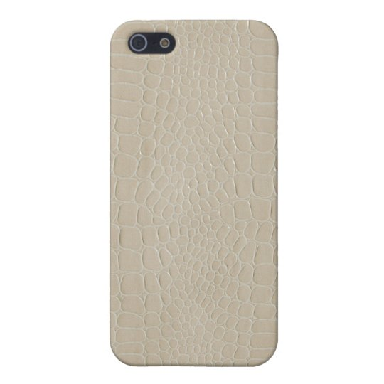 Beige del cocodrilo iPhone 5 funda