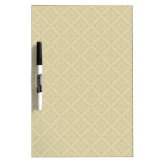 Beige Diamonds Pattern Clean Look Dry Erase Board