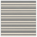 [ Thumbnail: Beige & Dim Gray Colored Lined/Striped Pattern Fabric ]