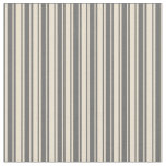 [ Thumbnail: Beige & Dim Gray Lines Pattern Fabric ]