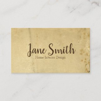 Beige Distressed Torn Antique Background Unique Business Card