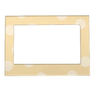Beige Dot Pattern. Magnetic Picture Frame