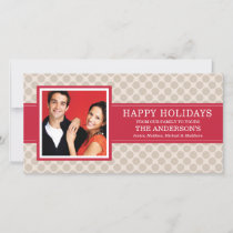 BEIGE DOTS | HOLIDAY PHOTO CARD