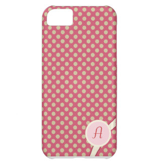Beige Dots on Pink Iphone 5 Case
