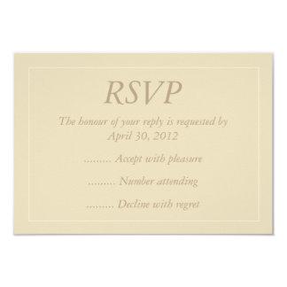 "Beige & Ecru Event Reply, RSVP or Response Cards 3.5"" X 5"" Invitation Card"