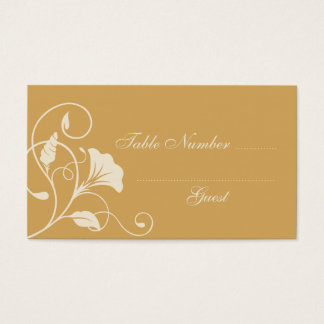 Beige & Ecru Wedding Table Assignment Place Cards