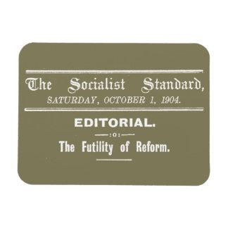 Beige editorial de octubre del estándar socialista imanes de vinilo