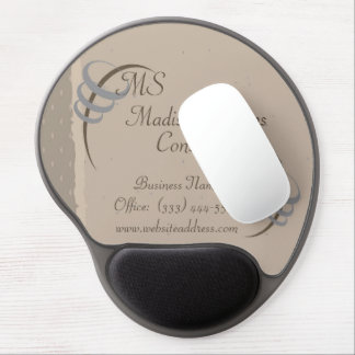 Beige elegante, cojín de ratón del gel de Brown Alfombrilla De Raton Con Gel