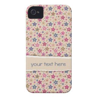 Beige enrrollado de las estrellas subió Case-Mate iPhone 4 protector