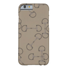 Beige Equestrian Horse Bits Barely There iPhone 6 Case