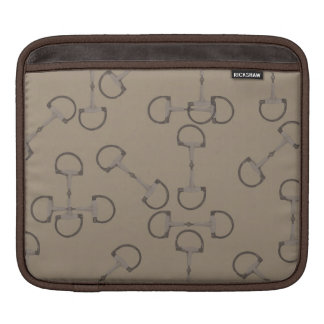 Beige Equestrian Horse Bits Sleeve For iPads