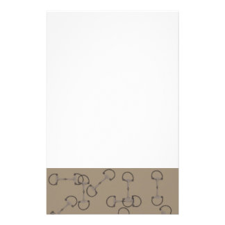 Beige Equestrian Horse Bits Customized Stationery