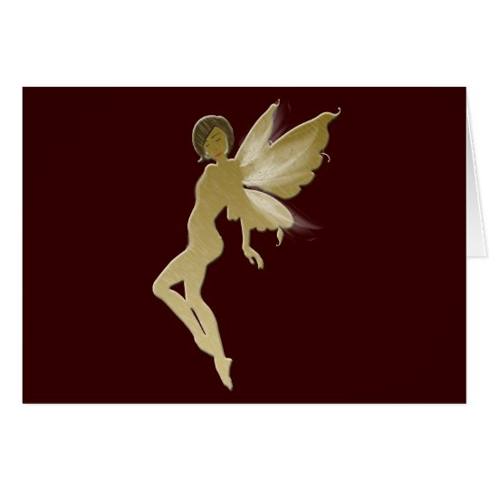 Beige Fairy Card