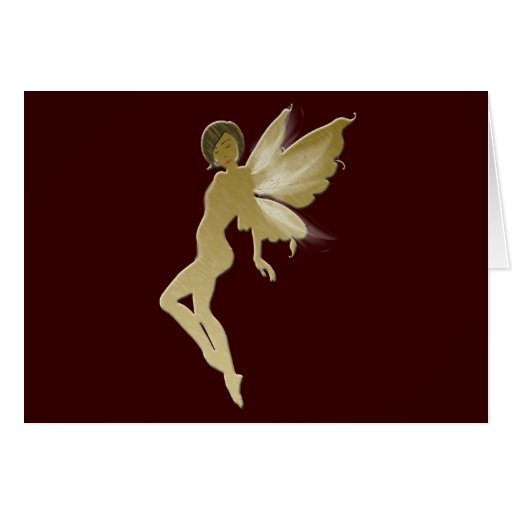 Beige Fairy Greeting Card
