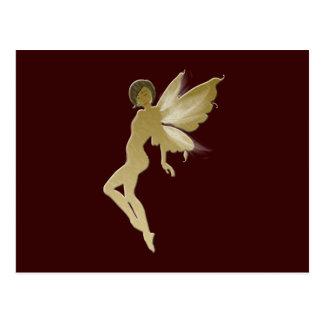 Beige Fairy Postcard