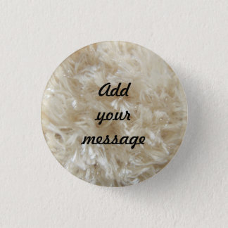 Beige Faux Fur Print 0390 Pinback Button