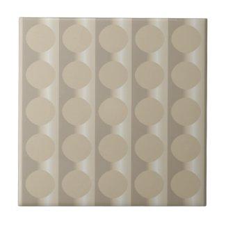 Beige Floating Circles Ceramic Tile