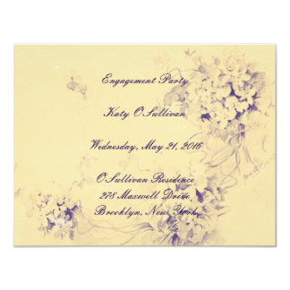 Beige Floral Engagement Party loop Invitation