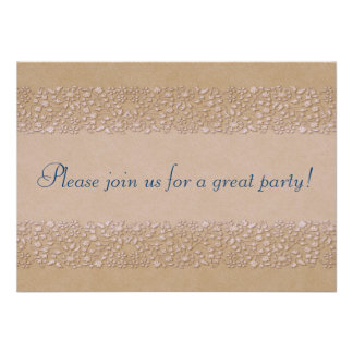 Beige Floral Invitation