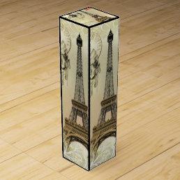 beige floral lace chandelier paris eiffel tower wine box