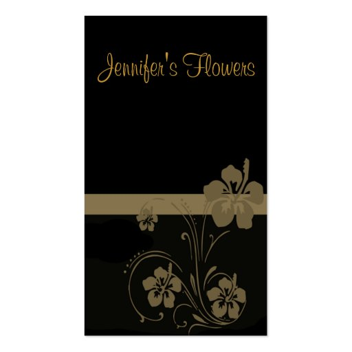 beige floral scroll business card template