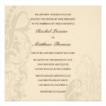 Beige Floral Wedding Invitation