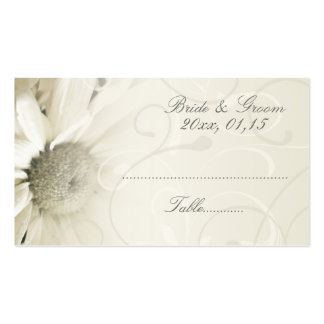 Beige Floral Wedding Table Place Setting Cards Business Card