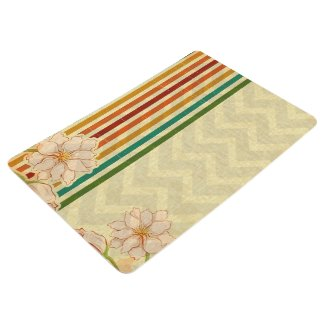 Beige Flowers With Colorful Stripes