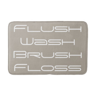 Beige Flush and Wash Bath Mat