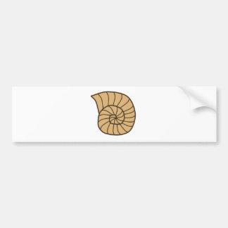 Beige Fossil Shell (Ammonoidea) Bumper Sticker