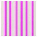 [ Thumbnail: Beige & Fuchsia Lined Pattern Fabric ]