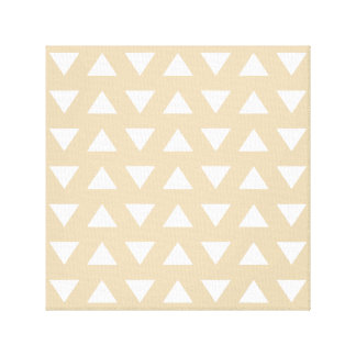 Beige Geometric Pattern with Triangles. Stretched Canvas Prints