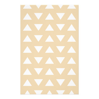 Beige Geometric Pattern with Triangles. Flyer