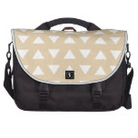 Beige Geometric Pattern with Triangles. Laptop Computer Bag