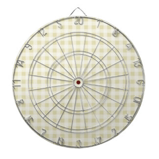 Beige Gingham; Checkered Dart Board