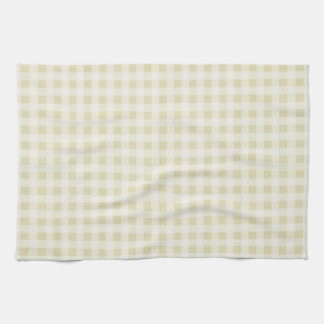 Beige Gingham; Checkered Towel