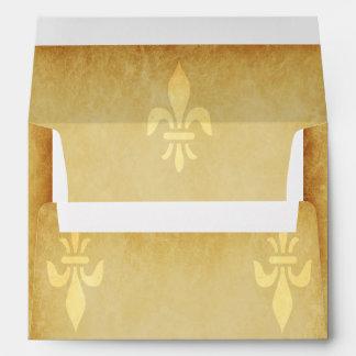 Beige gold de luxe French style fleur de lis Envelope