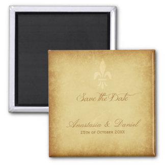 Beige gold de luxe French style fleur de lis Magnet