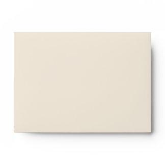 Beige Gold Linen RSVP Envelopes