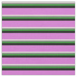 [ Thumbnail: Beige, Gray, Forest Green, Black, and Orchid Fabric ]