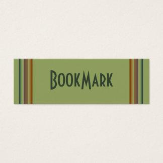 beige green bookmark mini business card