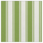 [ Thumbnail: Beige & Green Colored Striped/Lined Pattern Fabric ]