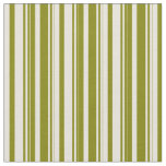[ Thumbnail: Beige & Green Colored Stripes/Lines Pattern Fabric ]