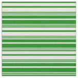 [ Thumbnail: Beige & Green Lines Pattern Fabric ]