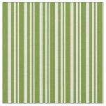 [ Thumbnail: Beige & Green Lines/Stripes Pattern Fabric ]