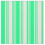 [ Thumbnail: Beige & Green Pattern Fabric ]