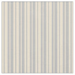 [ Thumbnail: Beige & Grey Lines Fabric ]