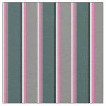 [ Thumbnail: Beige, Hot Pink, Grey, Dark Slate Gray & Black Fabric ]