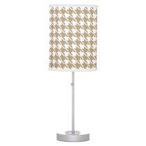 Beige Houndstooth Lamp